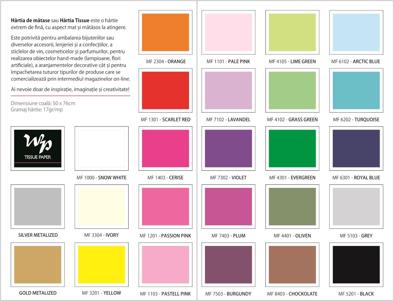 Mostrar culori - hartiedematase.ro